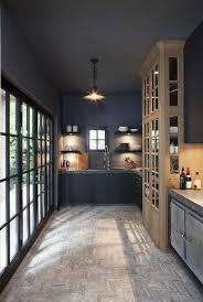 peinture cuisine en gris anthracite pour peindre plafond et murs