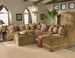 Casbah Transitional U Shaped Sectional Sofa With Hanging Pendant Lamp Living Room Lighting In
