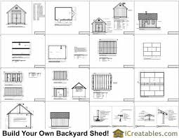 12x16 Storage Shed Plans by 12x16 Traditional Victorian Backyard Shed Plans Icreatables Com