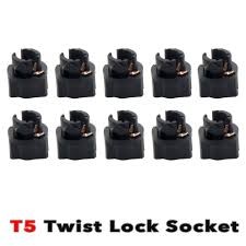 50pcs t5 twist in lock wedge dashboard instrument panel dash light