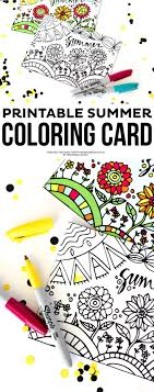 This Summer Printable Coloring Card Is A Great Way To Keep The Kids Busy Over Th