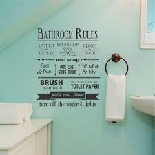 Bathroom Rules Wall QuotesTM Decal