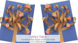This Constructions Paper Tree Is A Fun 3d Construction Craft Create It All Seasons