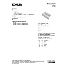 Kohler Villager Bathtub Weight by Kohler K 837 0 Bellwether White Soaking Tubs Tubs U0026 Whirlpools