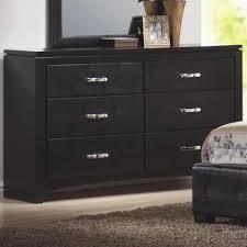 6 Drawer Dresser Black by Coaster Furniture 201403 Dylan Faux Leather 6 Drawers Dresser In