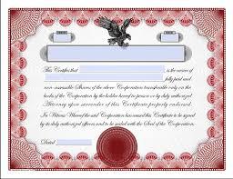 Bond Certificate Templates