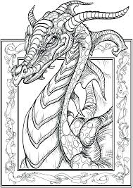 Fairy And Dragon Coloring Pages Unicorn Hard As Well For