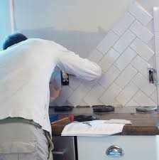 herringbone tile backsplash installation home design ideas