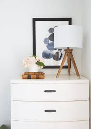 Target Black 4 Drawer Dresser by How To Pick The Right Lamp For Your Dresser Emily Henderson