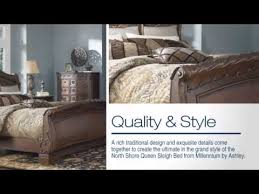 north shore queen sleigh bed from millenum by ashley youtube