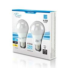 a19 2 pack led bulbs 9 watts dimmable 60w equiv 800 lumens by euri