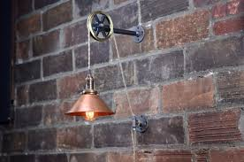 copper shade industrial wall sconce pendant edison hanging