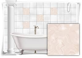 fliesen aufkleber folie marmor öl ölfarben abstrakt bad beige creme grau wc deko küche