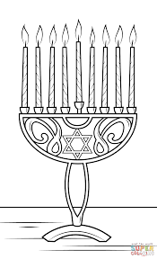 Click The Hanukkah Menorah Coloring Pages To View Printable