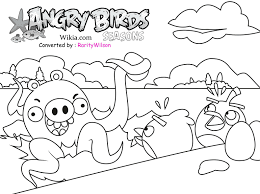 Angry Birds Coloring Pages King Pig Space To Print Free Online Season Full Size