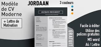 modele cv moderne word jordaan modèle de cv moderne rezumeet