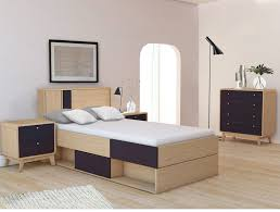 3 tlg schlafzimmer set in schwarz eiche loft24 de