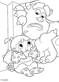 Sulley Finds Boo Coloring Page