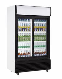 685L Normal Temperature Drinks Visi Cooler Fruit Display Fridge