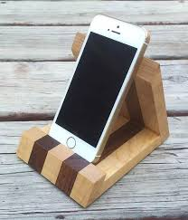 Walnut And Tiger Maple IPhone Stand By MinnesotaWoodcraft On Etsy