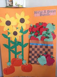 Fall Classroom Bulletin Board Basket Weave Paper Strips Glue Then