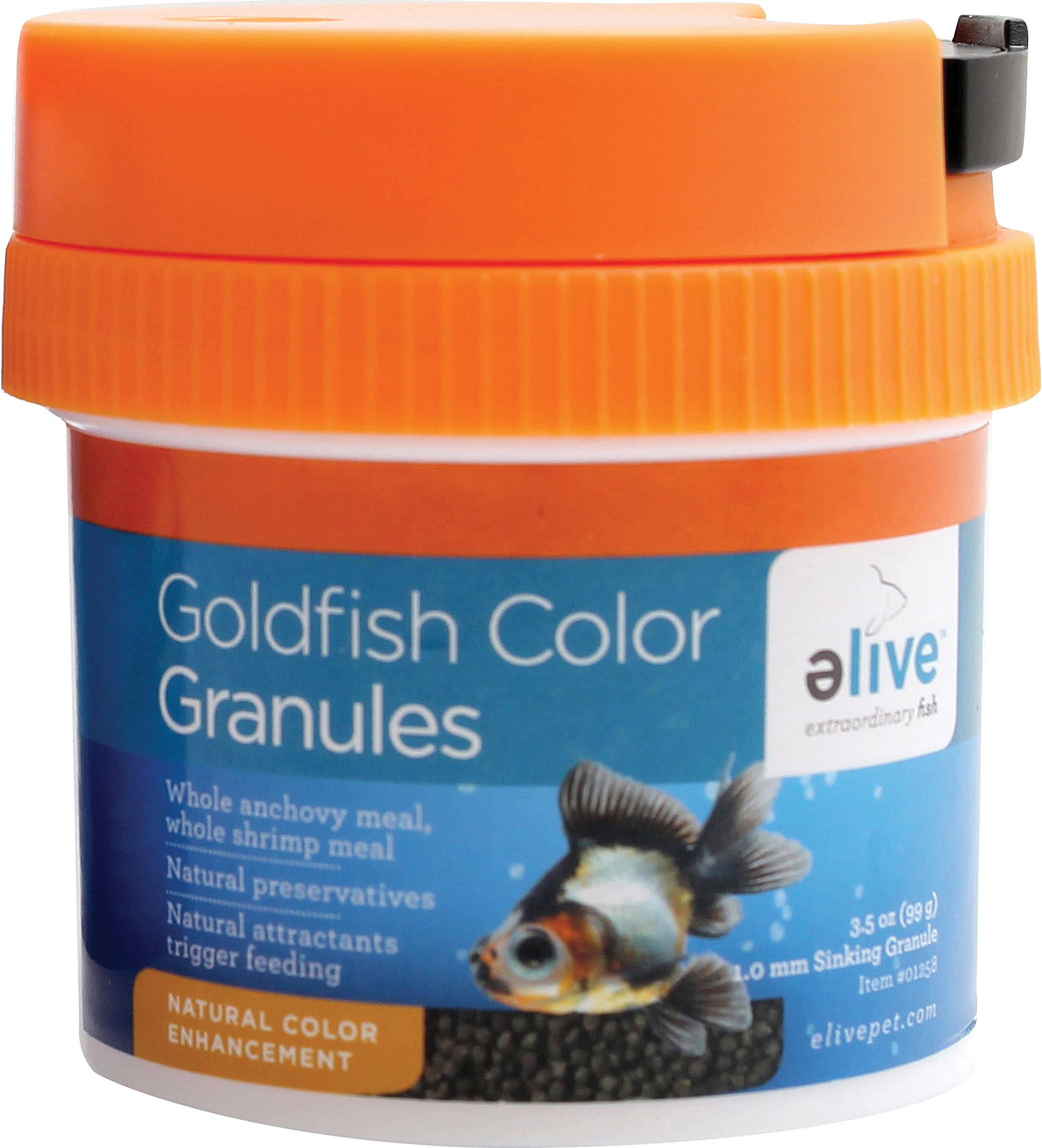 Elive Granules Fish Food - Goldfish Color, 3.5oz