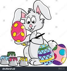 Clip Art Illustration Easter Bunny Painting Stock Illustration