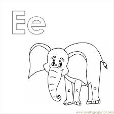 Coloring Picture Elephant E Page Free Pages