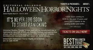 Universal Studios Orlando Halloween Horror by Universal Studios Halloween Horror Nights Tickets Out Now For 2012