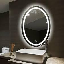 oval bad led le spiegel wand hängen bad mit licht make up