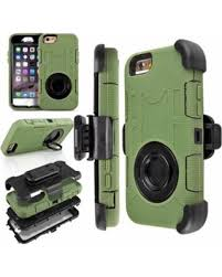 iPhone 6s Plus Case Army Green Heavy Duty Rugged Hybrid Rubber Shockproof 4
