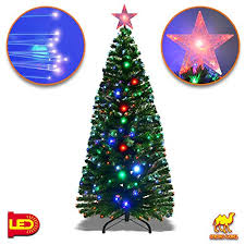 Strong Camel Deluxe 7 Artificial Christmas Tree W Multi Color Optical Fibers 270 Pcs