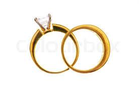 Interlocking Wedding Rings Drawing Stock Image Two Wedding