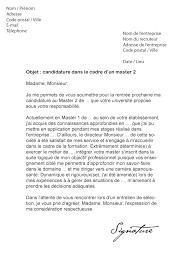 lettre de motivation master 2 modèle de lettre