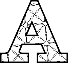 Printable Letter A With Pattern To Color Letters