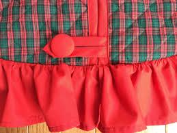 The Grinch Christmas Tree Skirt by Handmade Christmas Tree Skirt Made In Red U0026 Green Pre Quilted
