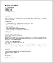 Resume For Technical Jobs Support Representative Example Current Rh Rockyrama Info