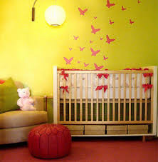Colorful Baby Nursery 1 How To Decorate My Room Without Spending Money