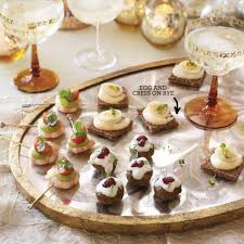 canape firr egg and cress on rye canape recipes housekeeping