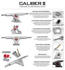 Caliber Trucks Caliber II 184mm Fifty Trucks Raw (10