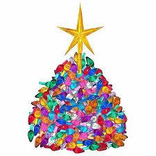 Vintage Ceramic Christmas Tree 65 Medium Twist Light Bulbs Large Gold Star