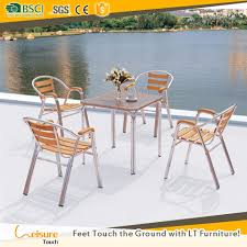 Simple Design Aluminum Wooden Garden Outdoor Square Table And Chair ... China White Square Metal Wood Restaurant Table And Chair Set Sp Interior Design Chairs Painted Ding Modern Wooden Fniture 3d Model Sohocg Amazoncom Giantex 3 Pcs Bistro 2 Vintage Stock Photo Edit Now Alinum Outdoor Chair Stool Restaurant Bistro Fniture Cheap 35pc Sets Cafe Dporticus 5piece Industrial Style Shop Costway Kitchen Pub Home Verona 36 Inch