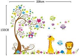 stickers jungle chambre bébé décoration bébé chambre d enfant