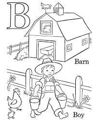 Farm Alphabet Coloring Pages
