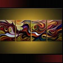 framed modern abstract canvas paintings for sale