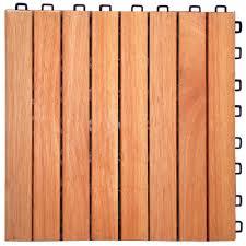 Rubber Paver Tiles Home Depot by Amazon Com V375 Eucalyptus Hardwood 8 Straight Slat Design