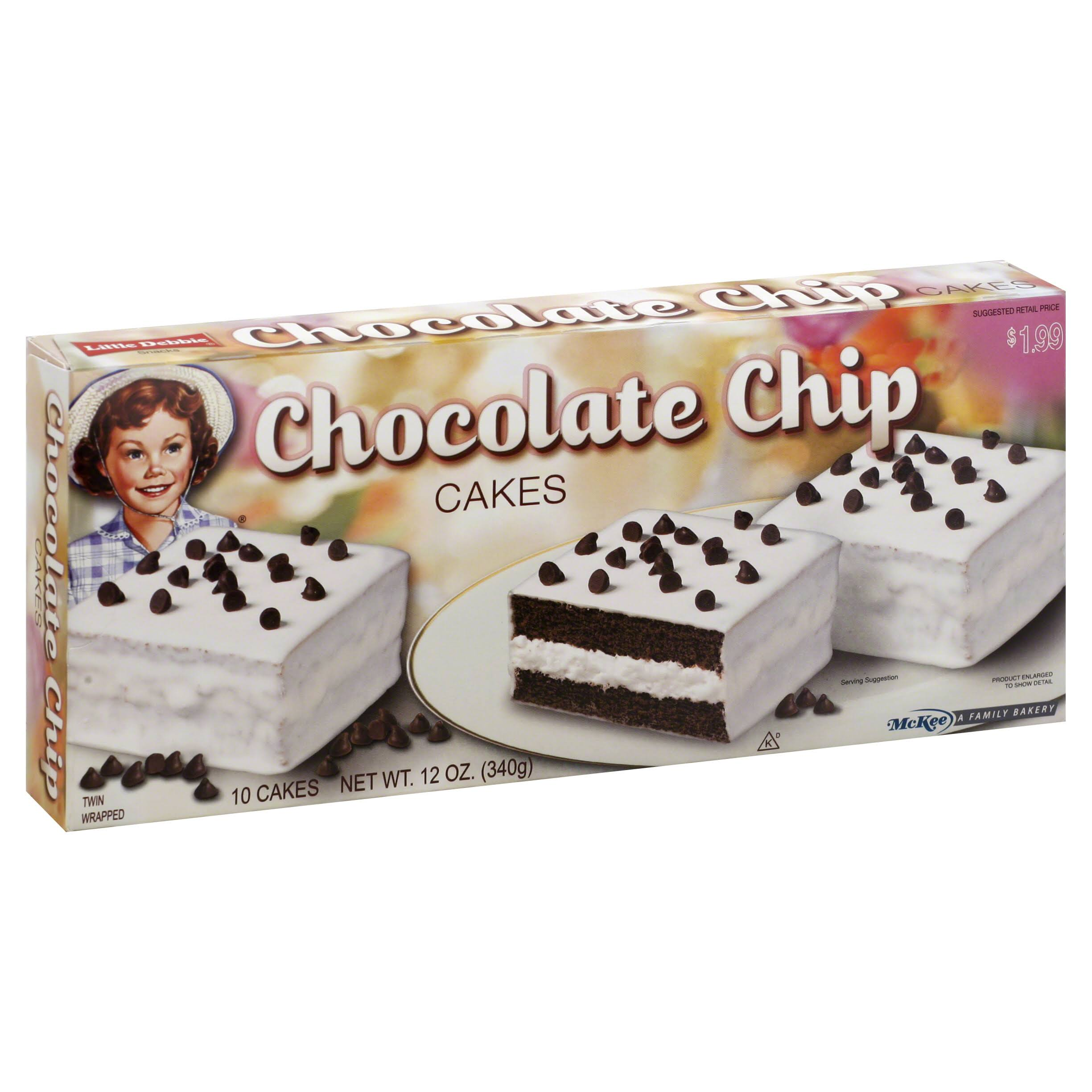 Little Debbie Cakes, Chocolate Chip - 10 cakes, 12 oz