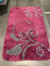 badevorleger badezimmermatte badezimmerteppich pink grau