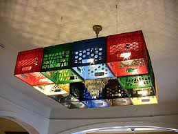 Check It A Chandelier Made Up Of Milk Crates You Thought Kitchen Lights Cereal Box Designs Showed Off How Much Truly Love Breakfast