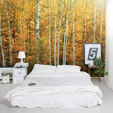 Wall Mural Decals Tree by Autumn Birch Tree Forest Wall Mural